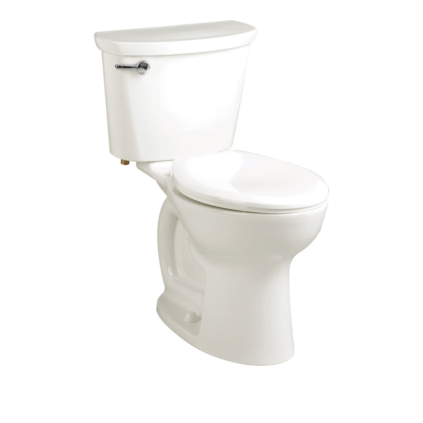 American Standard 215FC104.020 Cadet® Pro™ Right Height™ 2-Piece Toilet, Elongated Bowl, 16-1/2 in H Rim, 14 in Rough-In, 1.28 gpf Flush Rate, White, Import