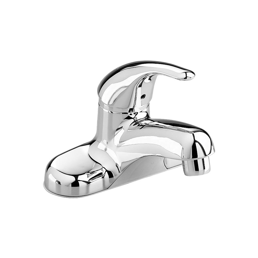 American Standard 2175.506.002 Colony® Soft Single Control Centerset Lavatory Faucet, Polished Chrome, 1 Handles, Grid Strainer Drain, 1.2 gpm Flow Rate