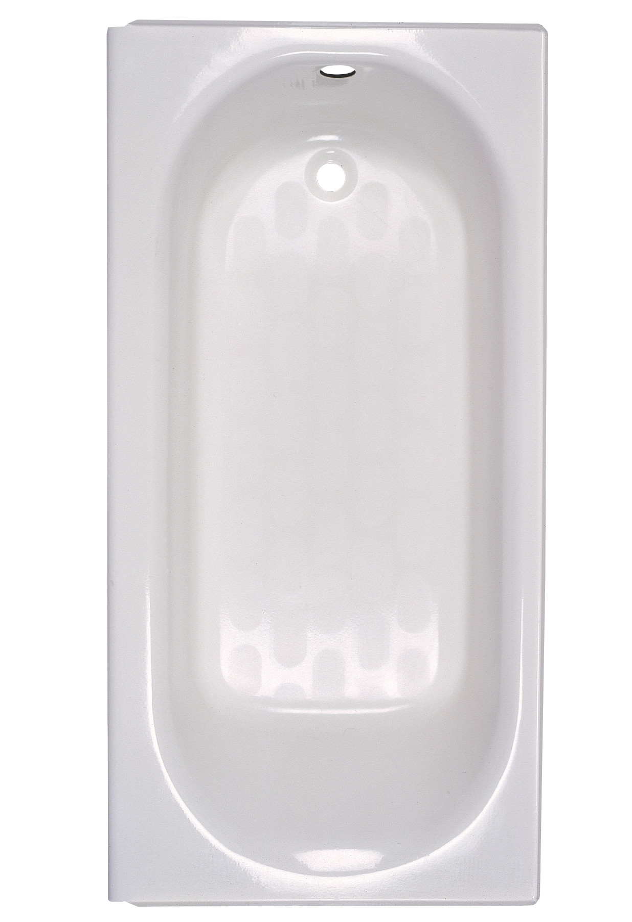 American Standard 2390202.020 Bathtub, Princeton™, Soaking, Rectangular Shape, 60 in L x 30 in W, Left Drain, Glossy White, Domestic