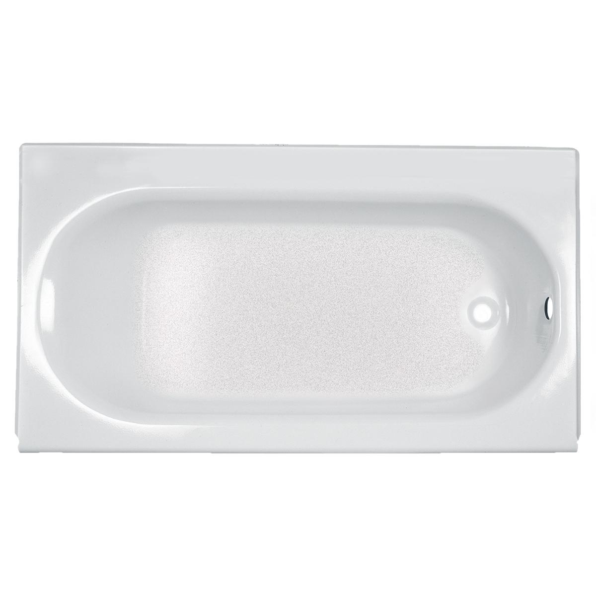 American Standard 2391202.020 Bathtub, Princeton™, Soaking, Rectangular Shape, 60 in L x 30 in W, Right Drain, Glossy White, Import