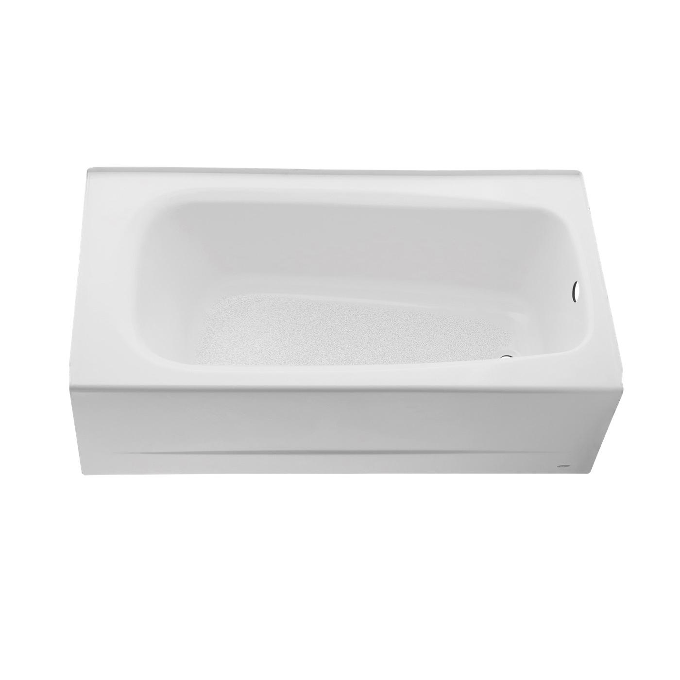 American Standard 2461.002.020 Bathtub, Cambridge™, Soaking, Rectangular Shape, 60 in L x 32 in W, Right Drain, White, Domestic