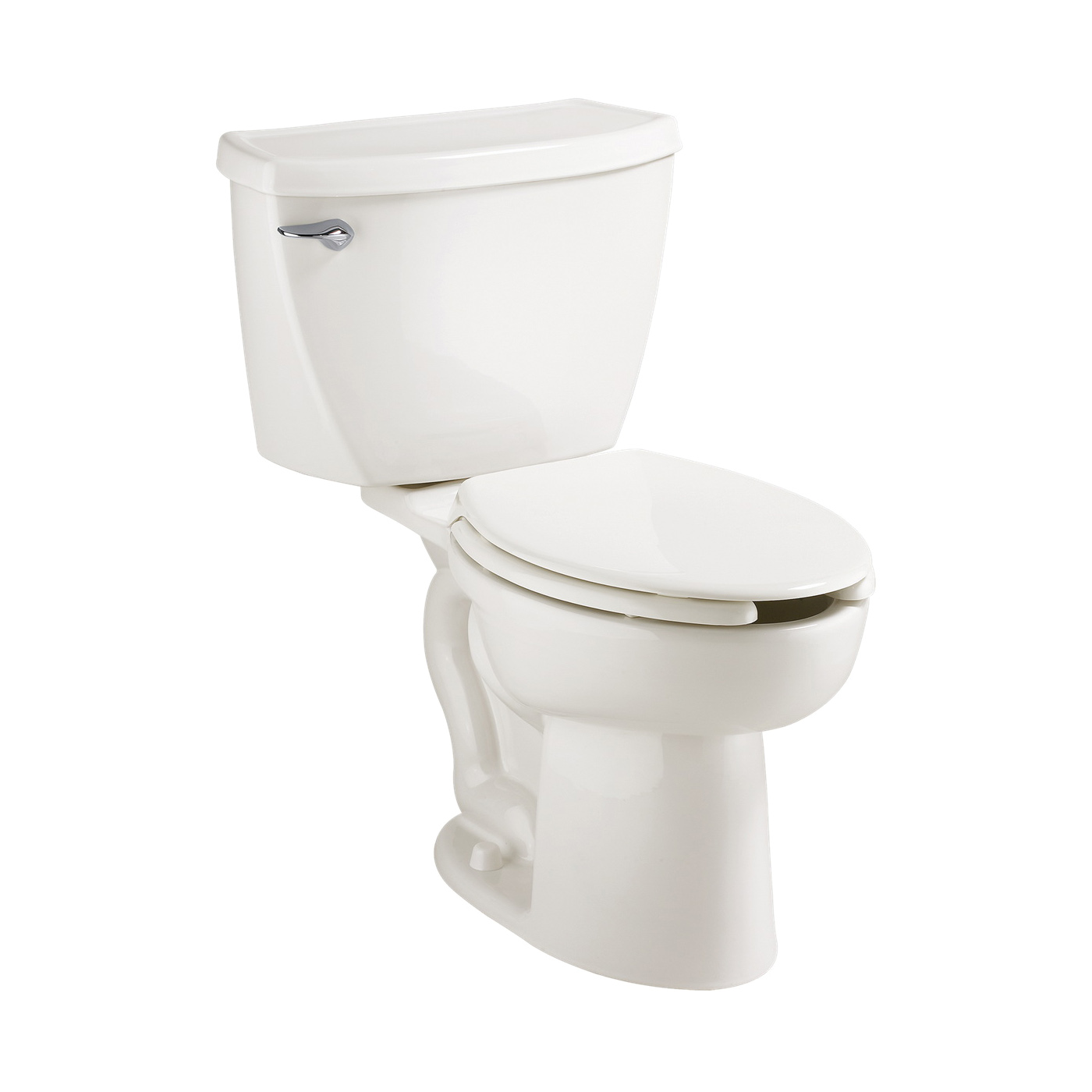 American Standard 2462100.020 Cadet® Flowise® 2-Piece Toilet, Elongated Bowl, 15 in H Rim, 12 in Rough-In, 1.1 gpf Flush Rate, White, Import