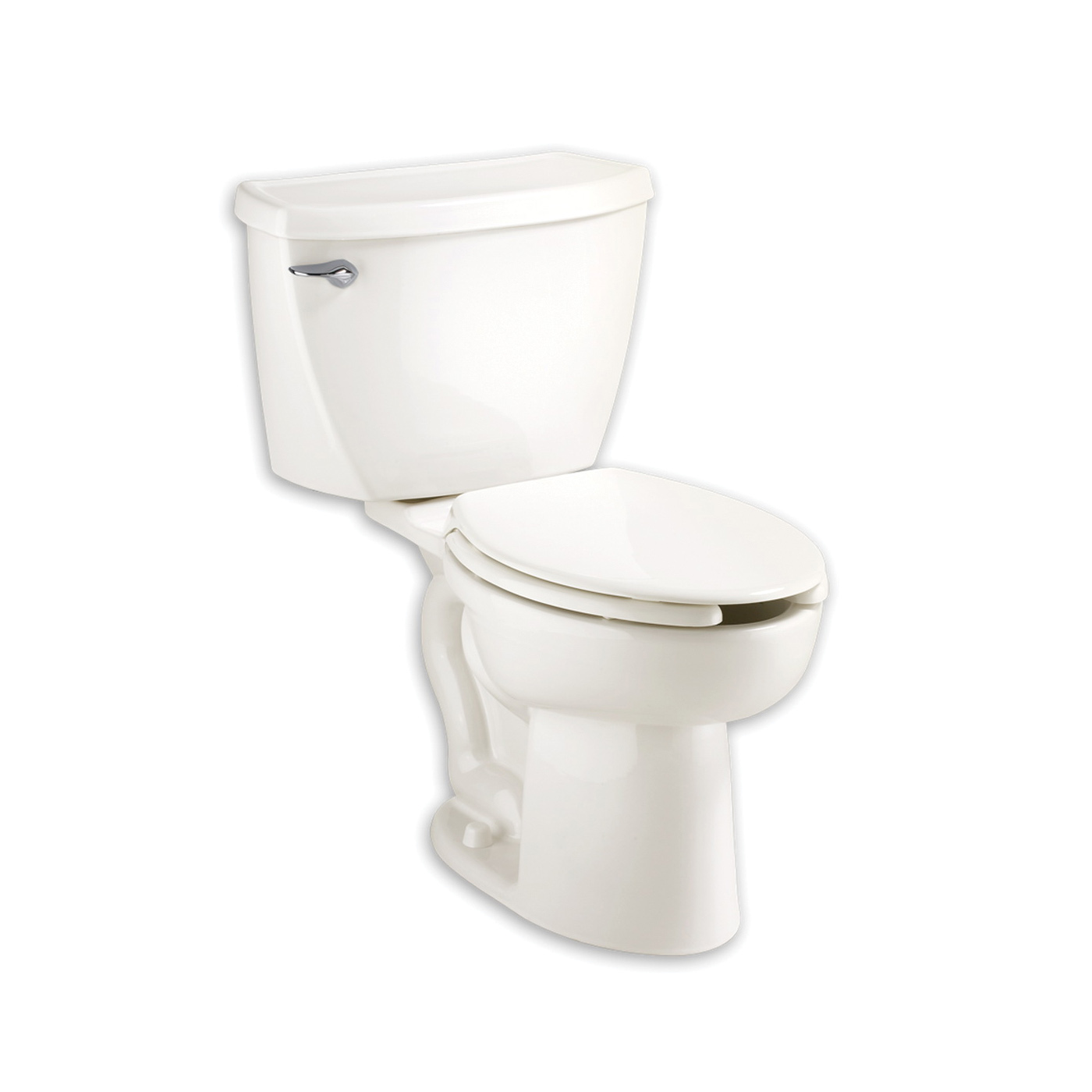 American Standard 2467.100.020 Cadet® Flowise® Right Height™ 2-Piece Toilet, Elongated Bowl, 16-1/2 in H Rim, 12 in Rough-In, 1.1 gpf Flush Rate, White, Domestic