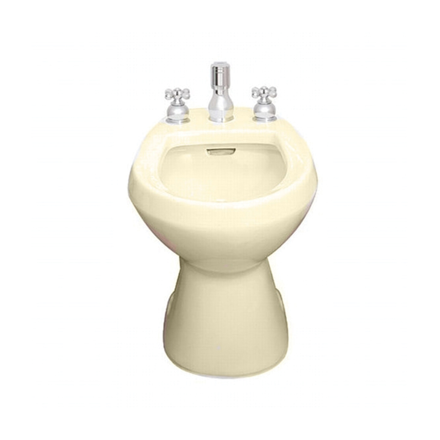 American Standard 5023.100.021 Cadet® Bidet Toilet With (2) Bolt Caps, Elongated Bowl, 14-7/8 in H Rim, 13-1/2 in Rough-In, Bone, Import