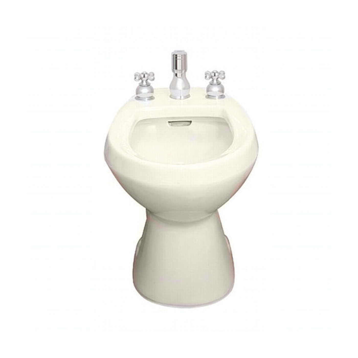 American Standard 5023.100.222 Cadet® Bidet Toilet With (2) Bolt Caps, Elongated Bowl, 14-7/8 in H Rim, 13-1/2 in Rough-In, Linen, Import