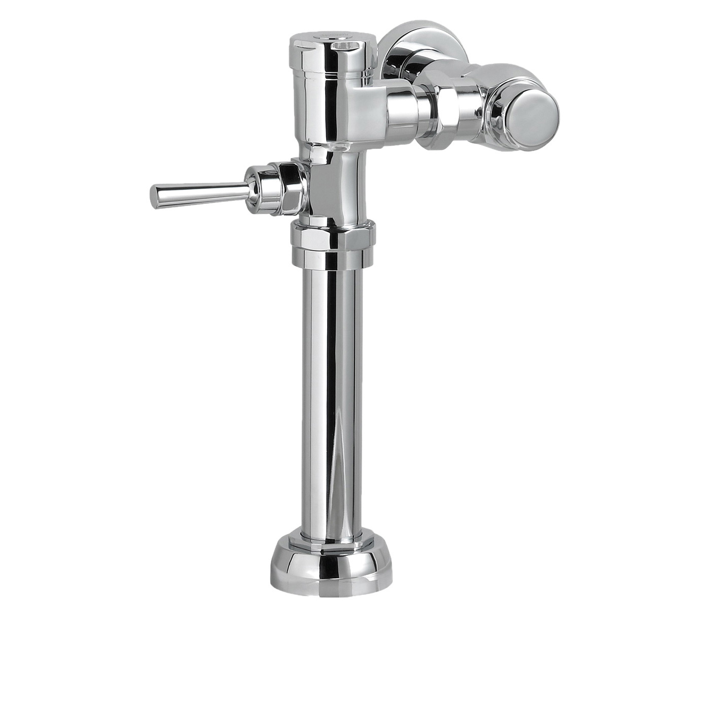 American Standard 6047161.002 Manual Exposed Toilet Flush Valve, 1.6 gpf Flush Rate, 1 in Inlet, 1-1/2 in Spud, 20 to 80 psi Pressure, Polished Chrome, Import
