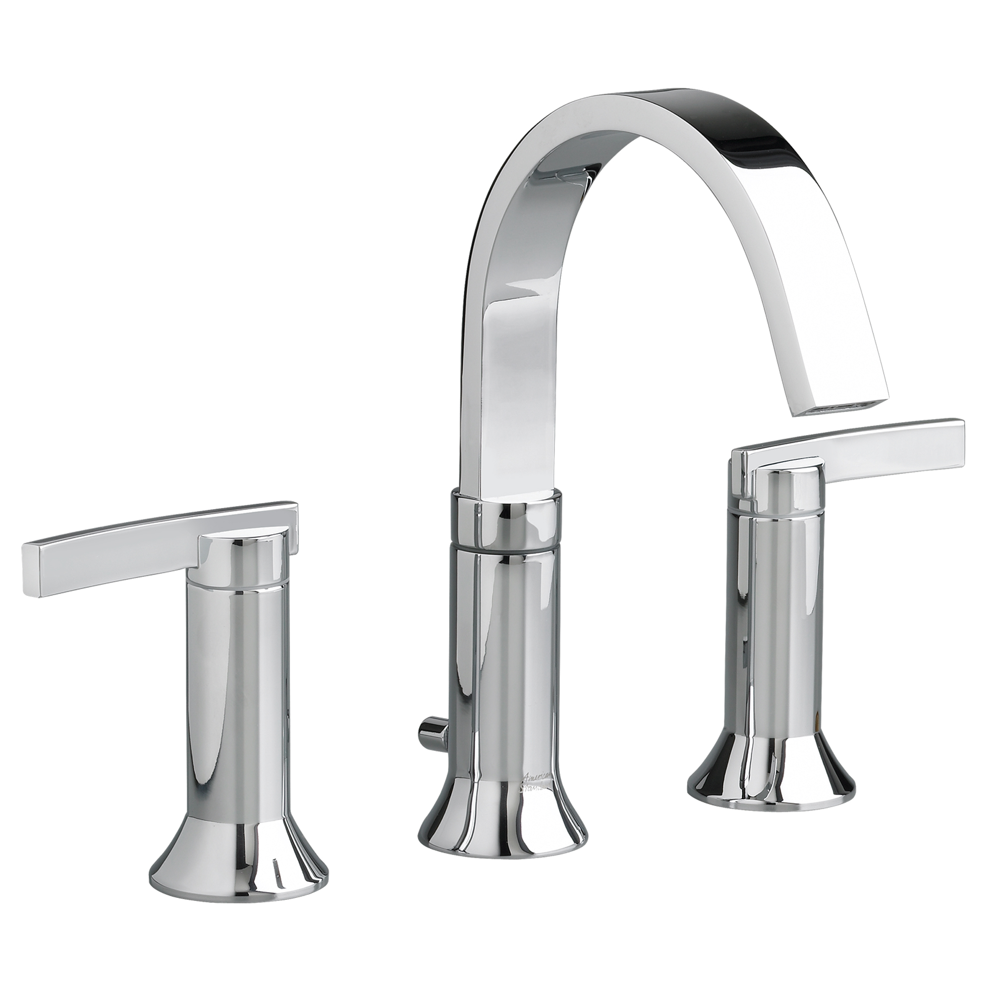 American Standard 7430.801.002 Berwick® Widespread Lavatory Faucet, 1.5 gpm Flow Rate, 6-1/16 in H Spout, 6 to 12 in Center, Polished Chrome, 2 Handles, Pop-Up Drain, Import