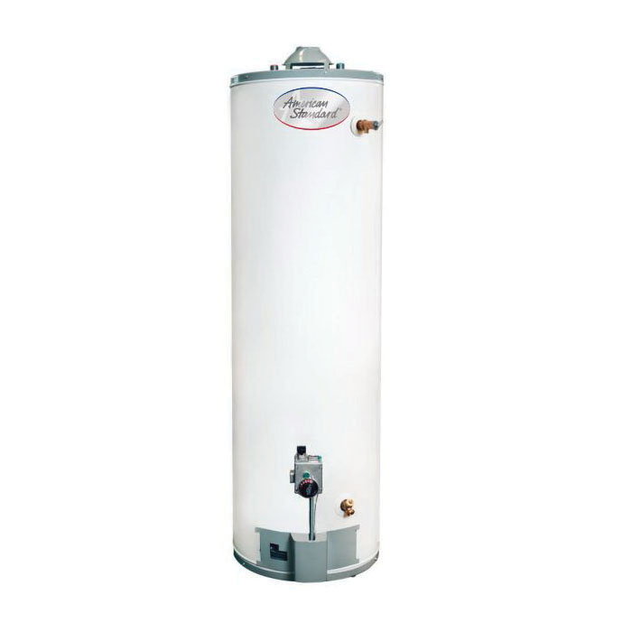 American Standard® GN40T1-3-6 GN Series Gas Water Heater, 40000 Btu/hr Heating, 40 gal Tank, Natural Gas Fuel, 38 gph Recovery, Tall