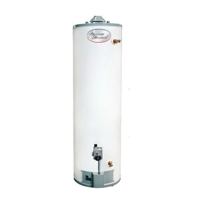 American Standard® GSN50T1-3-6 Gas Water Heater, 40000 Btu/hr Heating, 50 gal Tank, Natural Gas Fuel, 38 gph Recovery, Tall
