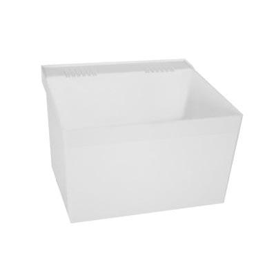 FIAT® L1100 Laundry Sink, 23 in W x 21-1/2 in D x 13 in H, Wall Mount, Plastic, White