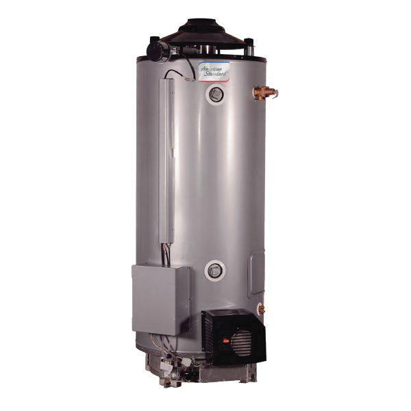 American Standard® ULN 100-199 AS Heavy Duty Gas Water Heater, 100 gal Tank, 199000 Btu/hr Heating, Natural Gas Fuel, 81.4 %