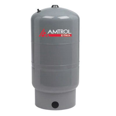 Amtrol® EXTROL® 118-27 SX Series Vertical Floor-Standing Boiler System Expansion Tank, 14 gal Capacity, 0.81 Acceptance, 11.3 gal Acceptance, 100 psi Pressure, Heavy Duty Butyl/EPDM Diaphragm, 15 in Dia x 24 in H