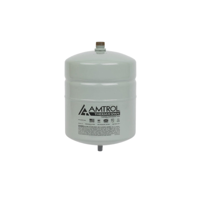 Amtrol® Therm-X-Span® 140-735 T Series In-Line Thermal Expansion Tank, 2 gal Tank, 0.9 gal Acceptance, 150 psig Pressure, 8 in Dia x 13 in H