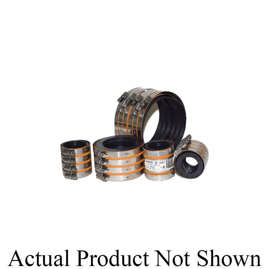 Anaco-Husky 4008 Husky® SD 4000 Pipe Coupling, 3 in Nominal, 304 Stainless Steel, Domestic