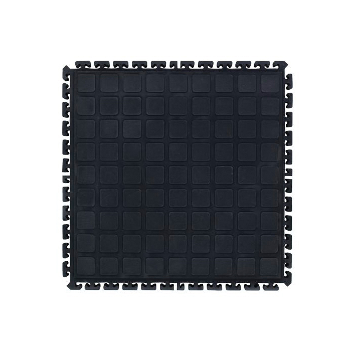 NoTrax® 520S3060BY Cushion-Lok™ 520 Anti-Fatigue Floor Mat, 60 in L x 30 in W x 7/8 in THK, Solid PVC Vinyl, Raised Diamond Porthole Surface Pattern, Resists: Industrial Chemicals, Cutting Fluids, Oils and Greases