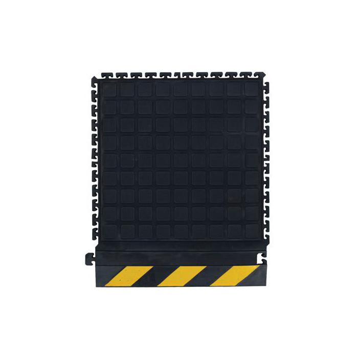 Andersen 522-01 HOG HEAVEN II Middle Anti-Fatigue Floor Mat, 18 in L x 18 in W x 3/4 in THK, Nitrile Rubber
