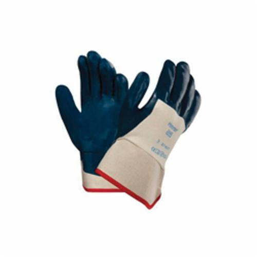 Ansell 26-665-9 Heavy Duty Chemical-Resistant Gloves, SZ 9, Natural Rubber Latex, Orange, Flock Lining, 13 in L, Resists: Abrasion and Chemical, Unsupported Support, Straight Cuff, 18 mil THK