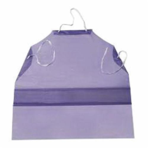 Ansell 54-290 Disposable Apron, White, 1.75 mil Polyethylene, 45 in L