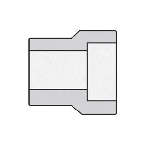 Anvil® 0362200404 FIG 2159 Type 1 Reducing Insert, 1/2 x 1/4 in Nominal, Socket Weld End Style, 3000 lb, Steel, Black Oxide, Domestic