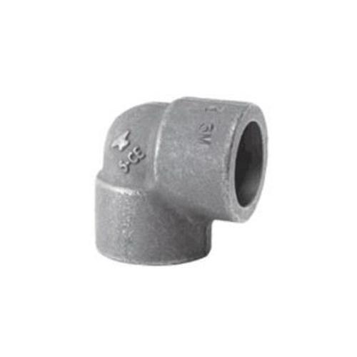 SPF/Anvil™ 0862001609 FIG 2150 90 deg Pipe Elbow, 1-1/2 in Nominal, Socket Weld End Style, 3000 lb, Steel, Black Oxide, Import