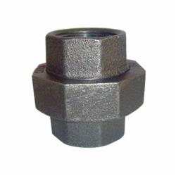 SPF/Anvil™ 0812508208 FIG 3463 Ground Joint Pipe Union, 3/4 in Nominal, FNPT End Style, 150 lb, Malleable Iron, Black, Import