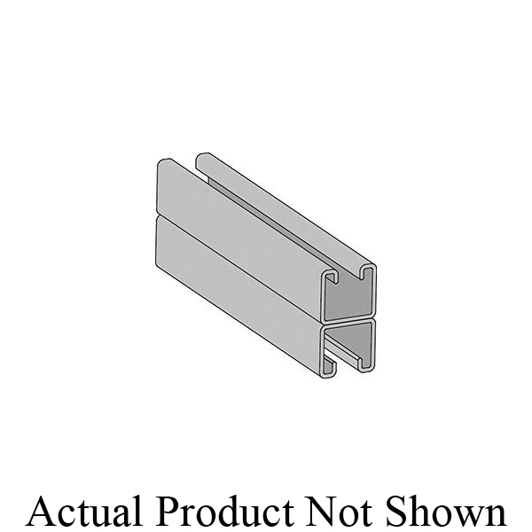 Anvil-Strut™ 2400101727 FIG AS 200BTB Back-to-Back Solid Welded Channel, 2 in Spacing, 12 ga THK, 20 ft L