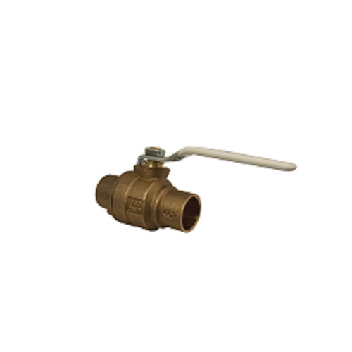 Apollo™ 77CLF-243-01-A 77CLF-A 2-Piece Ball Valve, 1/2 in Nominal, Solder End Style, Bronze Body, Full Port, RPTFE Softgoods, Domestic