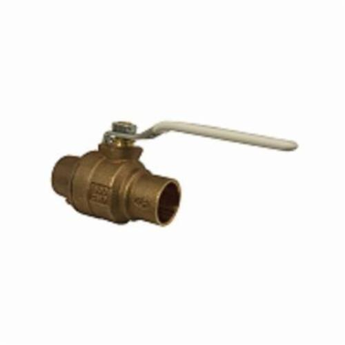 Apollo™ 77CLF-245-01-A 77CLF-A 2-Piece Ball Valve, 1 in Nominal, Solder End Style, Bronze Body, Full Port, RPTFE Softgoods, Domestic