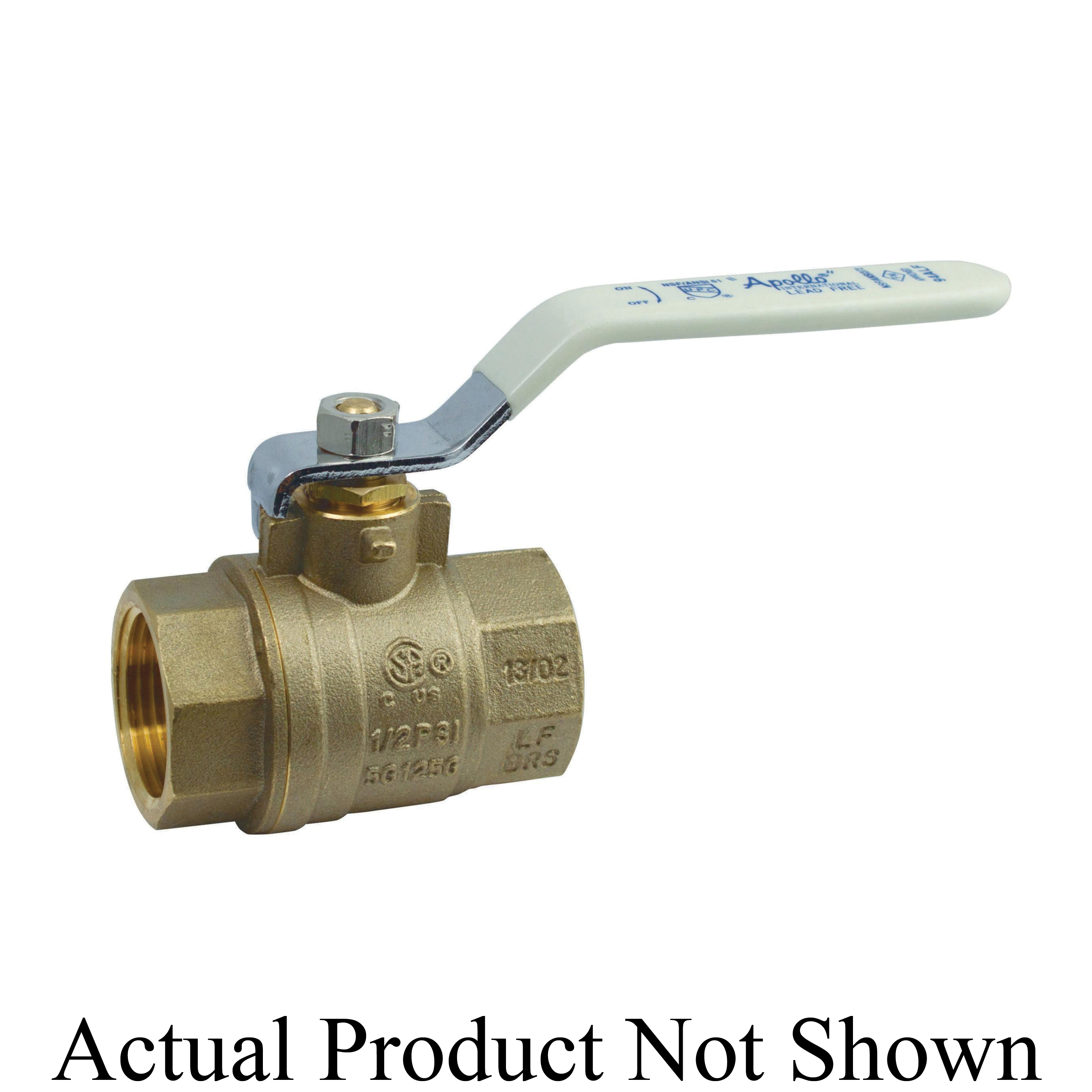 Apollo™ Apollo International™ 94ALF-204-01A 94ALF-A 2-Piece Ball Valve, 3/4 in Nominal, Solder End Style, Brass Body, Full Port, PTFE Softgoods