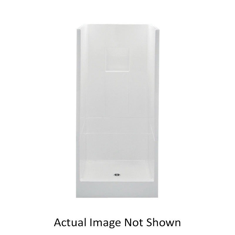 Aquatic 13232P-BO 13232P-BO Everyday 2-Piece Shower Without Seat, 32 in L x 32 in W x 72-3/4 in H, Gel-Coated/Bone