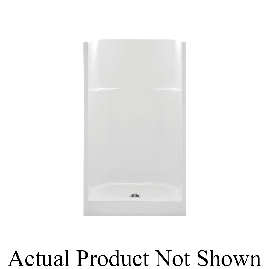 Aquatic 1363C-BO 1363C-BO Everyday 1-Piece Shower Stall Without Seat, 36 in L x 36 in W x 72 in H, Gel-Coated/Bone