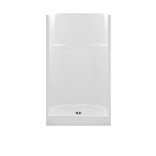 Aquatic 1363CM-BO Everyday 1-Piece Shower Stall, 36 in W x 75 in H, Gel-Coated/Bone, Domestic