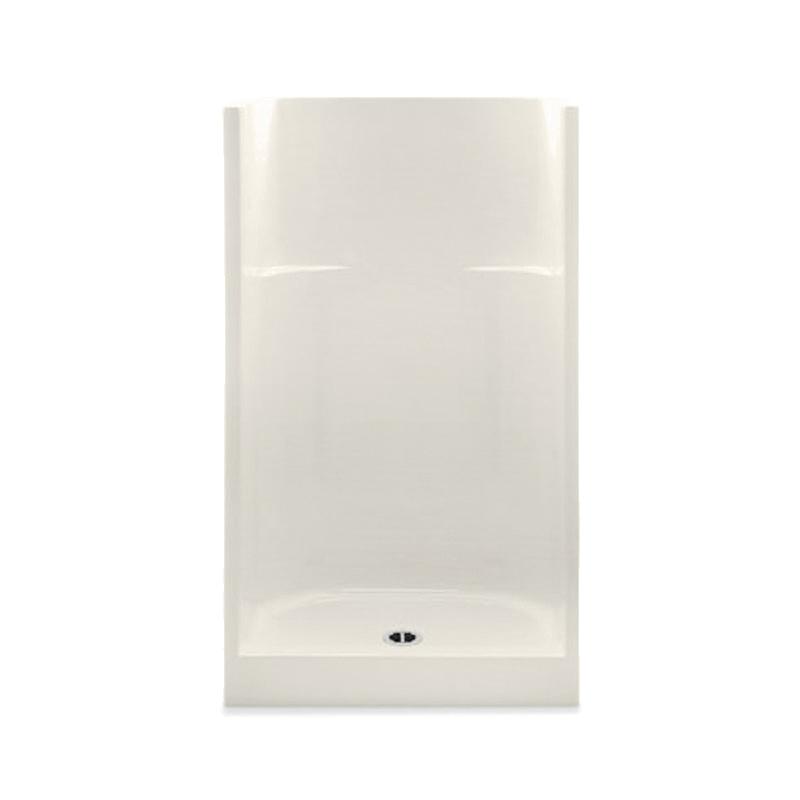 Aquatic 1363CM-BI Everyday 1-Piece Shower Stall, 36 in W x 75 in H, Gel-Coated/Biscuit, Domestic