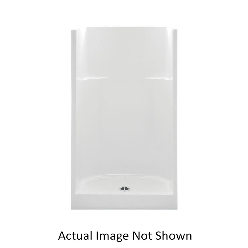 Aquatic 1363CM-WH Everyday 1-Piece AFR Shower Stall, 36 in L x 36 in W x 75 in H, Gel-Coated/White