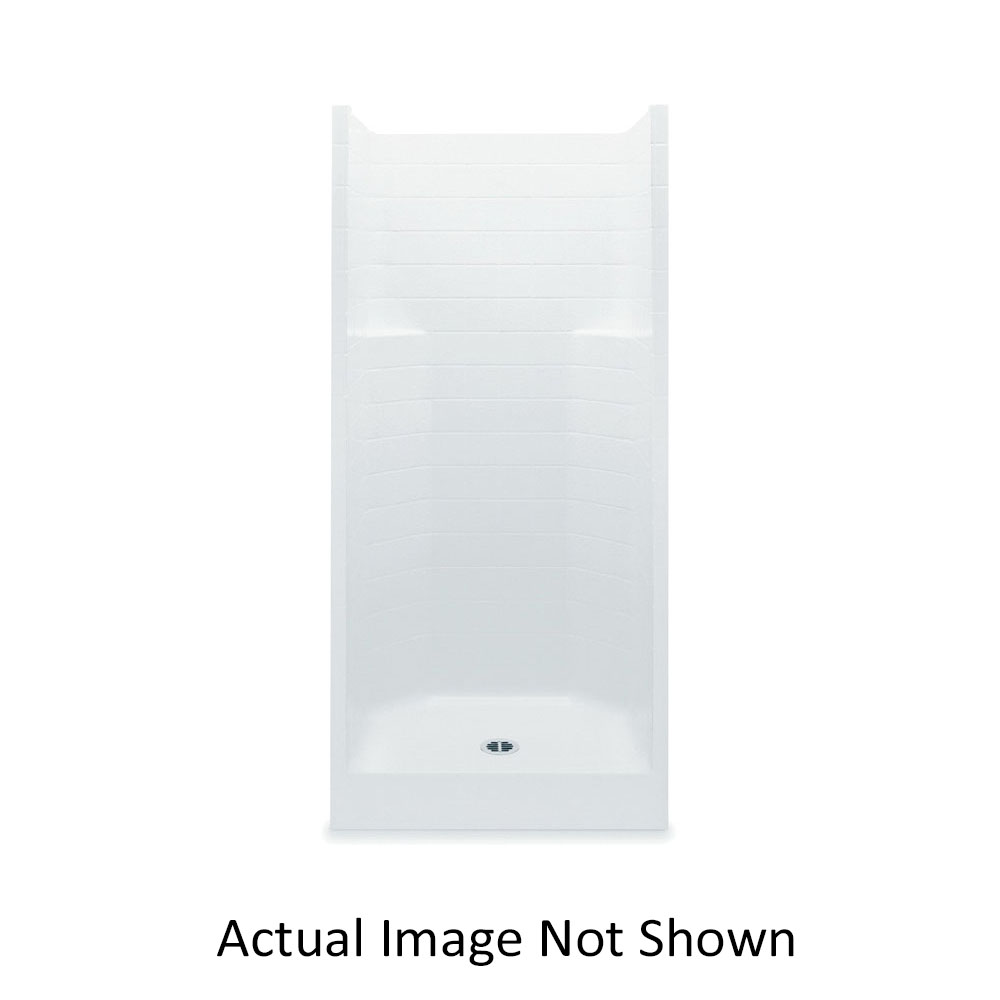 Aquatic 1363CT-BO 1363CT-BO Everyday 1-Piece Shower Stall Without Seat, 36 in L x 36 in W x 72 in H, Gel-Coated/Bone