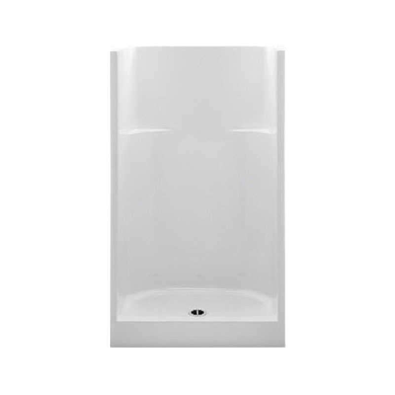 Aquatic 1423CM-WH Everyday 1-Piece Shower Stall, 42 in W x 75 in H, Gel-Coated/White, Domestic