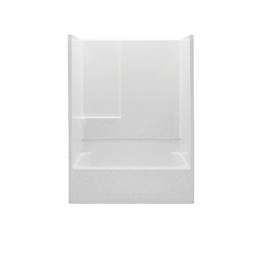 Aquatic 2543N2PR-WH 2-Piece Tub Shower Stall, Everyday, 54 in L x 29 in W x 72 in H, Gel-Coated/White