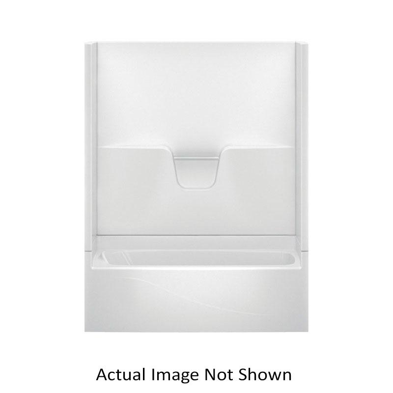 Aquatic 260304PL-BO 4-Piece Tub Shower, Everyday, 60 in L x 30 in W x 76 in H, Gel-Coated/Bone