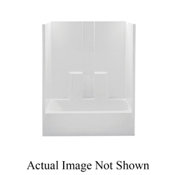 Aquatic 260330L-WH 1-Piece Tub Shower Stall, Everyday, 60 in L x 30 in W x 72 in H, Gel-Coated/White