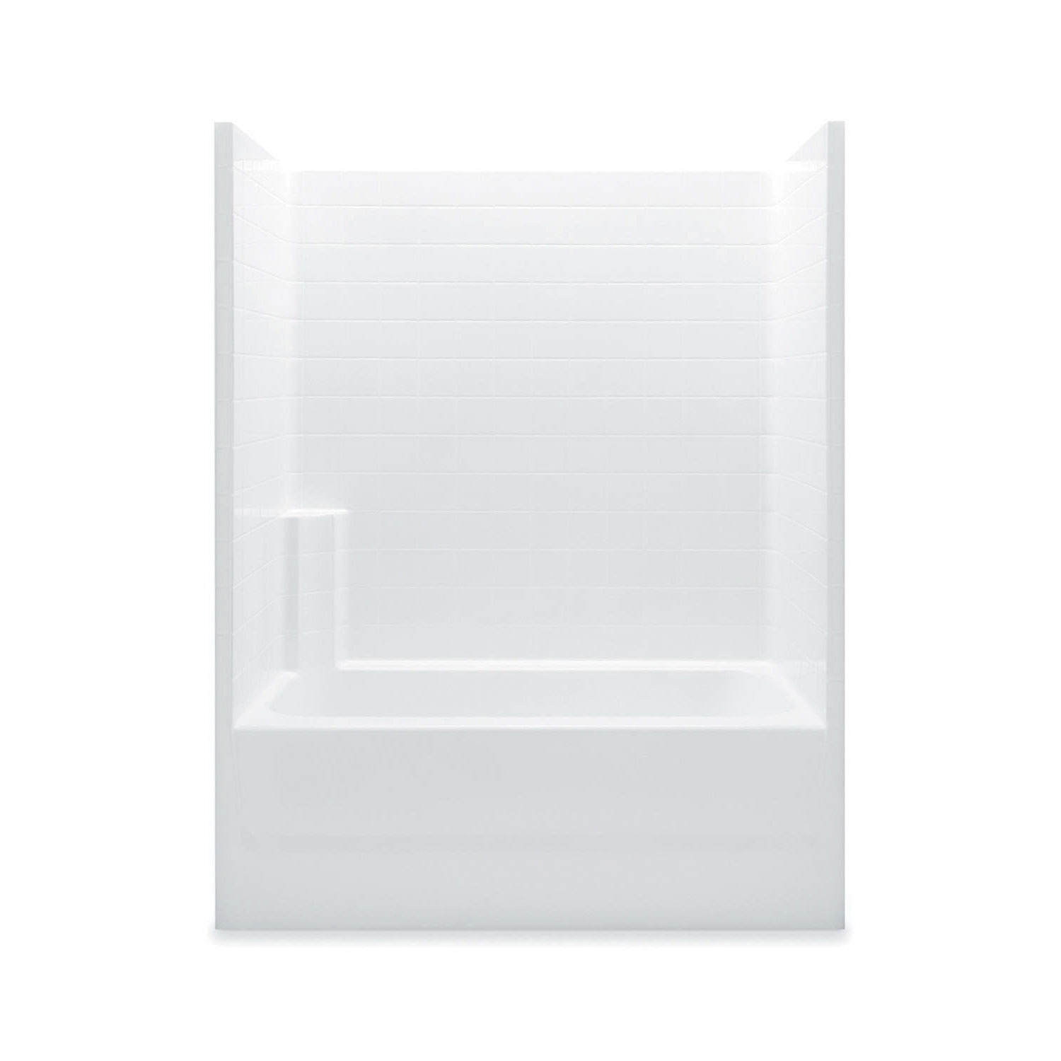 Aquatic 2603CTR-WH Tub Shower, Everyday, 60 in W x 72 in H, Gel-Coated/White, Domestic