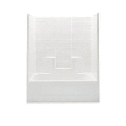 Aquatic 2603CTWL-BO 1-Piece Tub and Shower, Everyday, 60 in W x 73-1/4 in H, Acrylic, Bone, Domestic