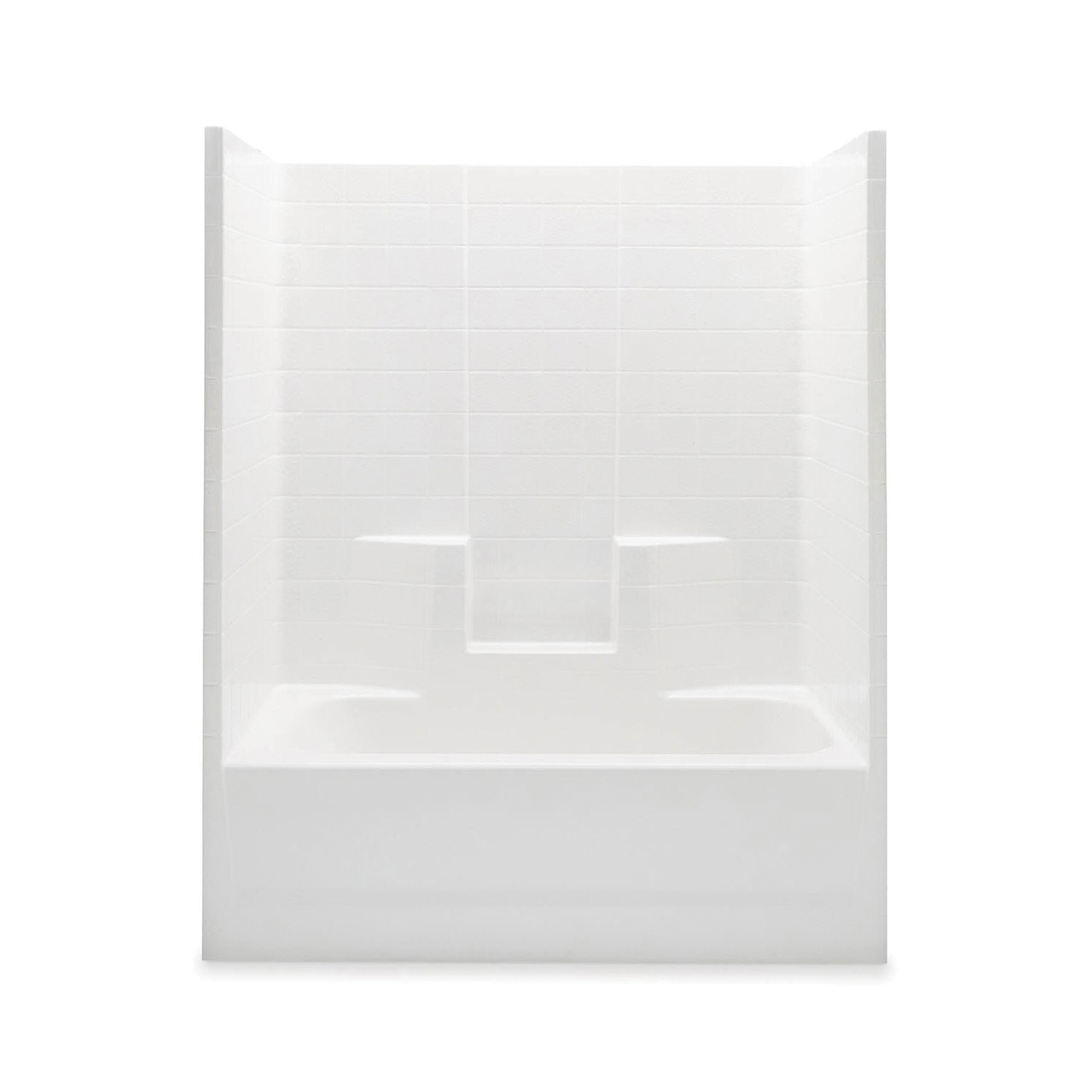 Aquatic 2603CTWML-WH Tub Shower, Everyday, 60 in W x 75 in H, Gel-Coated/White, Domestic