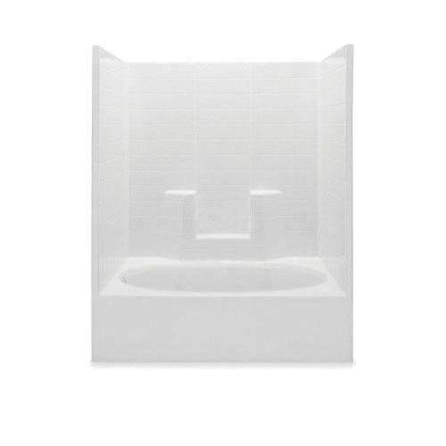 Aquatic 2603OCSL-BO 1-Piece Tub Shower Stall, Everyday, 60 in L x 36 in W x 72 in H, Acrylic, Gel-Coated/Bone, Domestic
