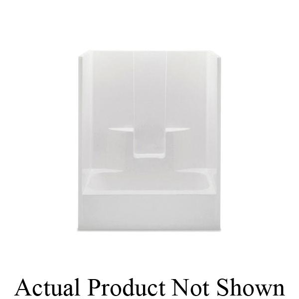 Aquatic 2603SGL-BI 1-Piece Tub Shower Stall, Everyday, 60 in L x 32 in W x 72 in H, Gel-Coated/Biscuit
