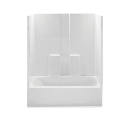 Aquatic 2603SGTL-BO 1-Piece Tub Shower Stall, Everyday, 60 in L x 32 in W x 78-1/4 in H, Acrylic, Gel-Coated/Bone, Domestic