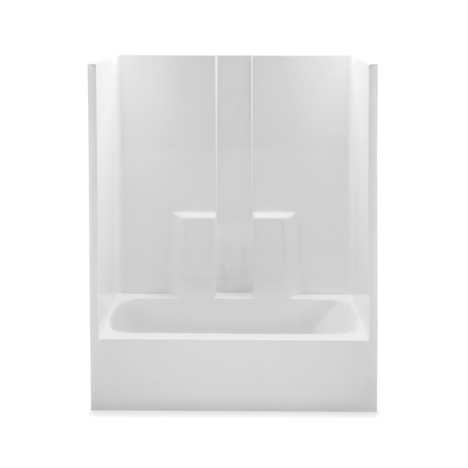 Aquatic 2603SGTR-WH 1-Piece Tub and Shower, Everyday, 60 in W x 79-1/2 in H, Acrylic, White, Domestic