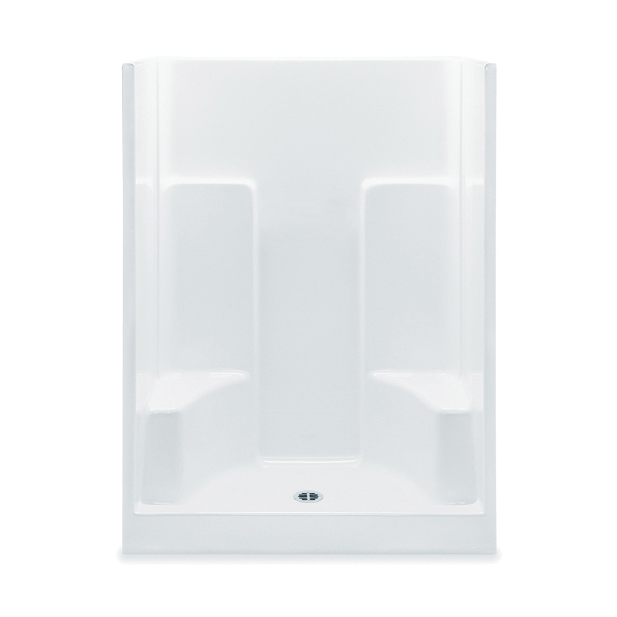 Aquatic 1603SGM-WH 1-Piece Shower Stall, Everyday, 60 in L x 35 in W x 75 in H, Acrylic, White