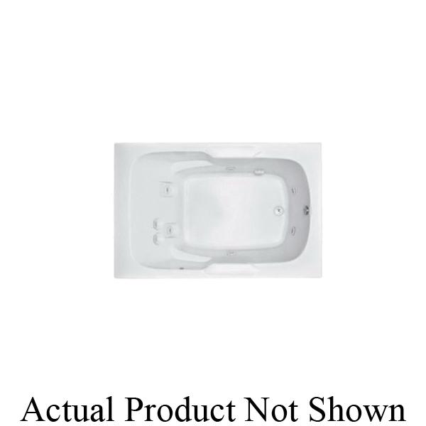 Aquatic AI7248R-WH Del Ray AI7248R-WH Estate 1-Piece Bathtub, Whirlpool, Rectangular, 72 in L x 47-3/4 in W, Universal Drain, White