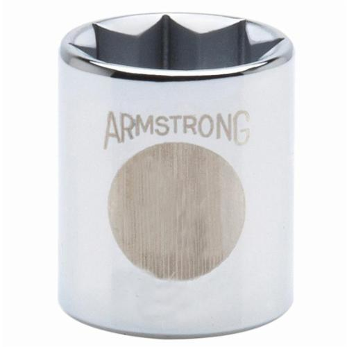 Armstrong® 12-324 Deep Length Socket, 1/2 in Square Drive, 3/4 in, 12 Points
