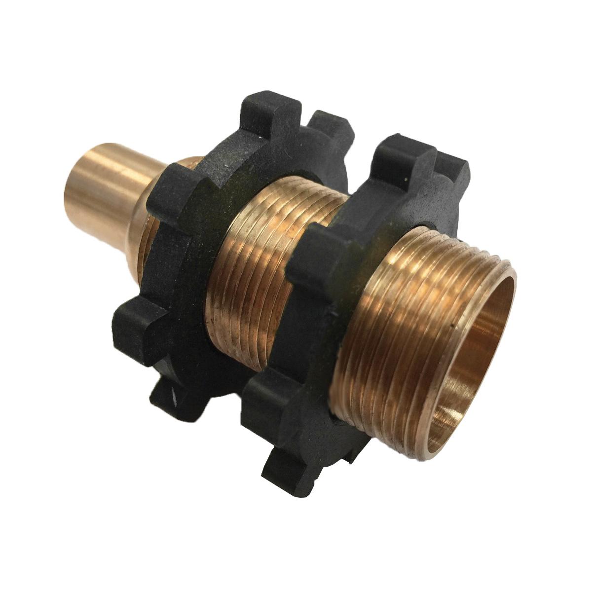 Arrowhead Brass 55CC Straight Shower Head Adapter, 1/2 in C x 1 in MNPT, Brass, Domestic